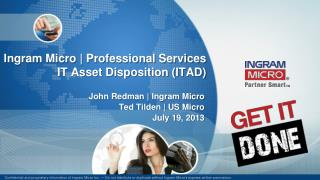 Ingram Micro | Professional Services IT Asset Disposition (ITAD)