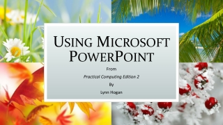 Using Microsoft PowerPoint