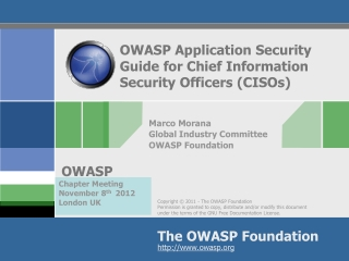 OWASP Application Security Guide for  Chief Information Security Officers (CISOs)