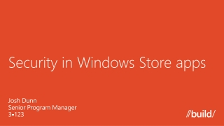 Security in Windows Store apps