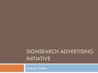 Signsearch Advertising Initiative