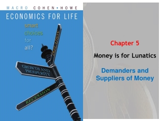 Chapter 5 Money is for  Lunatics Demanders and Suppliers of Money