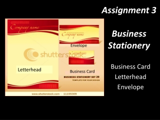 Assignment 3 Business Stationery