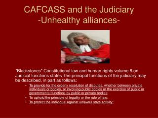 CAFCASS and the Judiciary -Unhealthy alliances-