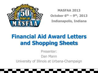 Financial Aid Award Letters and Shopping Sheets
