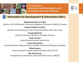 Information for Development & Information Ethics