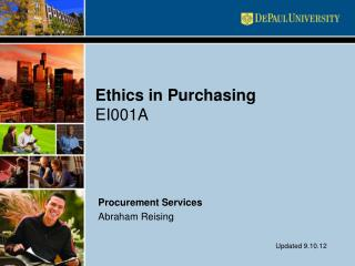 Ethics in Purchasing EI001A