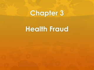 Chapter 3 Health Fraud