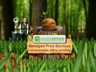 Managed Print Services  – sustainable office printing
