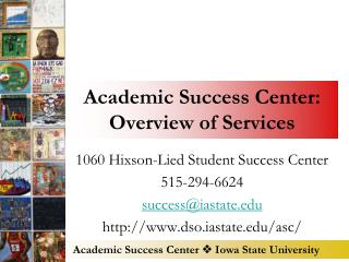 Academic Success Center: Overview of Services