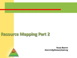 Resource Mapping Part 2