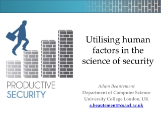 Utilising human factors in the science of security