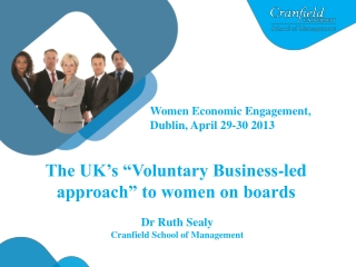 "The UK's ""Voluntary Business-led approach"" to women on boards"