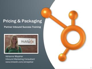 Pricing & Packaging Partner Inbound Success Training