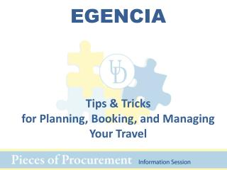 EGENCIA Tips & Tricks  for Planning, Booking, and Managing Your Travel