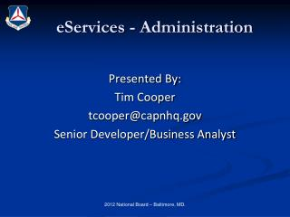 eServices - Administration