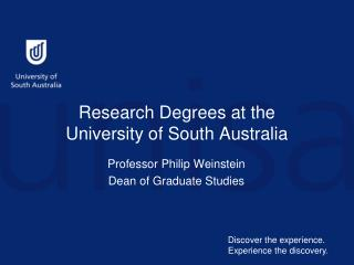 Research Degrees at the  University of South Australia