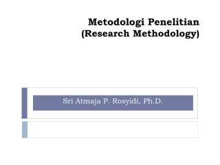 Metodologi  Penelitian (Research Methodology)