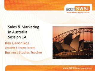Sales & Marketing in Australia Session 1A