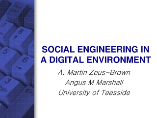SOCIAL ENGINEERING IN A DIGITAL ENVIRONMENT