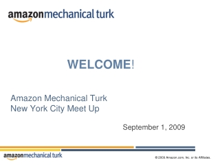 Amazon Mechanical Turk New York City Meet Up