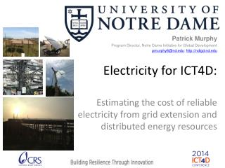 Electricity for ICT4D: