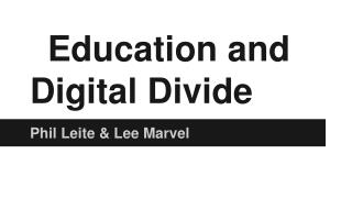 Education and Digital Divide