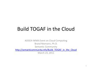 Build TOGAF in the Cloud