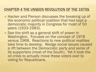 Chapter 4 The unseen Revolution of the 1970s