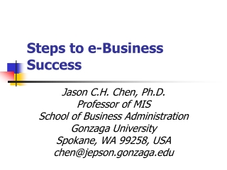 Steps to e-Business Success