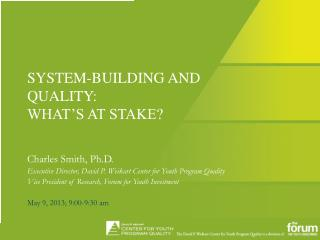 SYSTEM-BUILDING AND QUALITY: WHAT'S AT STAKE?