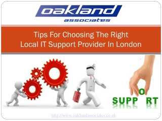 Tips for choosing right Local IT support provider in London