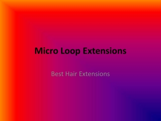 Where to Buy Micro Ring Loop Hair Extensions