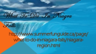 What To Do In Niagrafalls