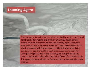 Foaming agent clc blocks, bricks and cellular light Concrete