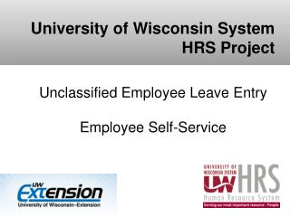 Unclassified  Employee  Leave Entry Employee Self-Service