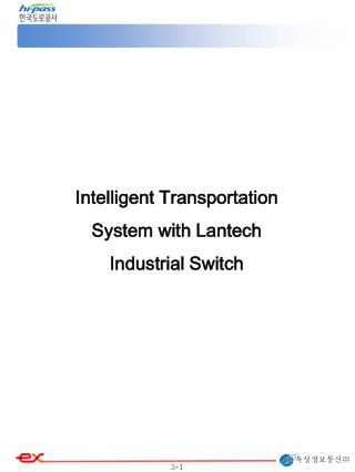 Intelligent Transportation System with Lantech Industrial Switch