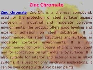 Zinc Chromate Potassium DiChromate Sodium Chromate