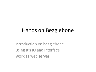 Hands on  Beaglebone