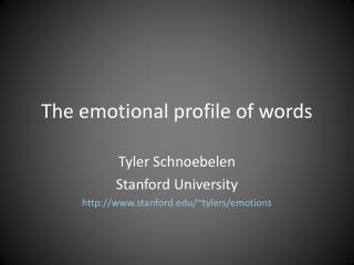 The emotional profile of words