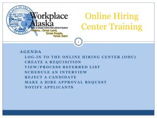 Online Hiring Center Training