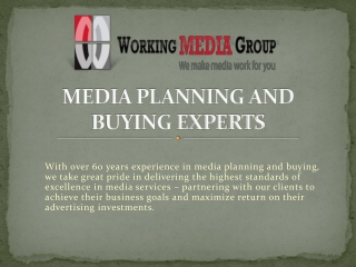 Media Planning and Buying Services