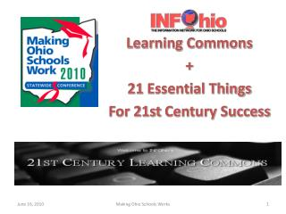 Learning Commons  +  21  Essential Things F or 21st  Century Success