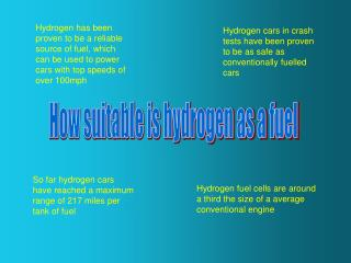 How suitable is hydrogen as a fuel
