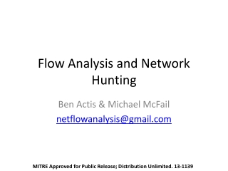 Flow Analysis and Network Hunting