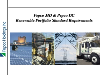 Pepco MD & Pepco DC Renewable Portfolio Standard Requirements