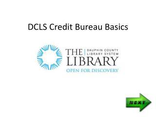 DCLS Credit Bureau Basics