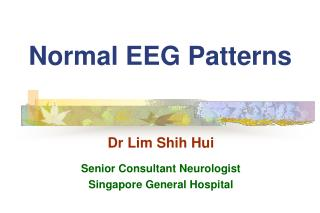 Normal EEG Patterns