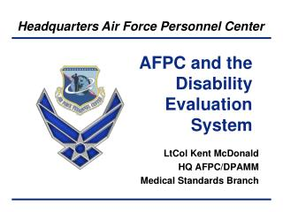 AFPC and the Disability Evaluation System