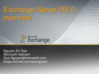 Exchange Server 2010 o verview